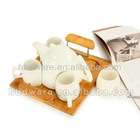 Cup set with serving tray