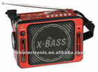 New design FM sacn radio with torch light&microphone
