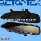 Clip on 4.3 inch car mirror monitor, screen in middle, high quality (BTM-4300)