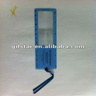 bookmark magnifying glass with ruler pattern