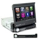 one din car dvd built in Bluetooth/DVD/ATV/IPOD with 7 inch detachable panel