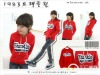 promotional women red stock fleece with caps without stripes
