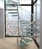 tempered glass stairway