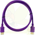 Purple Solid Color HDMI M to M Cable