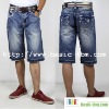 Pockets Moustache Washed Men Short Jeans Fifth Pants