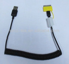 30 pin to micro -B adaptor USB spiral cable