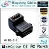 HS-210,HDMI female to HDMI female 90 degree Adapter,HDMI locking adapter