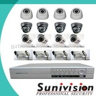 CCTV CAMERA DVR Kit with VGA/RJ45 PORT. H.264