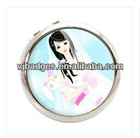 Gorgeous girl comestic mirror for new year gifts with printed sticker