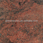 Multicolor red granite slabs, CE certificate available