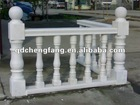outdoor white marble staircase handrail design