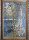 Oil painting canvas with frame