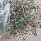 strong coiless 22mm pear shape metal safety pin
