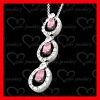 hot sale ruby silver pendant perfect gift wholesale