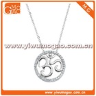 Clear Cubic Zirconia Open Circle Pendant Necklace