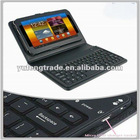 leather case for 7 inch tablet pc with bluetooth keyboard