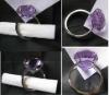 Popular Factory Price Promotion Wedding Gift Crystal Napkin Ring