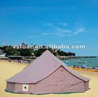cotton inflatable camping tent 4m with wooden pole