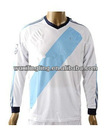 Thai quality Spain Red Long sleeve soccer jersey football shirt 2012-2013, customer made uniform S-01