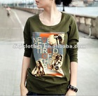 Army Green Figure Pattern Laidies Hoodie