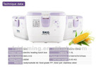 SKG-510 New Fast Electric Heating Lunch Box With Handle & Multi-function Lunch Box Rice Purple Christamas