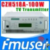 CZH6518A-100W Single-channel Analog TV Transmitter UHF 13-48 Channel tv broadcast transmitter