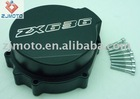 Volar Motorsport Black Billet Aluminum Stator Engine Cover for 2003-2004 Kawasaki ZX6R 636