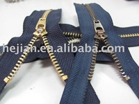Jeans Metal Zipper 4# Y Teeth Brass YG slider