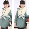 Autumn /winter 2012 100% cotton coat for kids,children's fur coat
