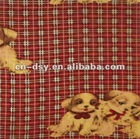 160cm Wide Partner Red Printed Flannel 100% Cotton Textile Fabric