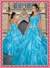Designer Sexy Strapless Prom Gown Ball-Gown Embroidery Chapel Train Taffeta 2012 Quinceanera Dresses