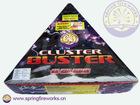 Cluster Buster 595 shots barrage missiles fireworks christmas cracker