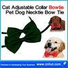 green Cat Adjustable Collar Bowtie Pet Dog Necktie Bow Tie