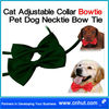 green Cat Adjustable Collar Bowtie Pet Dog Necktie Bow Tie