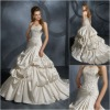 ML0015 Gathered Strapless Ball Gown Layer Bridal Dress
