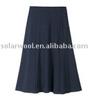 women's non-roll elastic waistband skirt