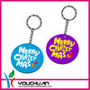 Bright Colors Round Silicone Key Chain for Christmas Promotion