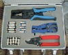 network tool kit for network system connector crimping tool kit