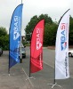 Printed Advertising Flag banners with Sublimation Printing