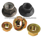 serrated hex flange lock nuts fine/coarse thread in hardware