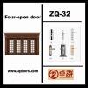 four leaf steel glass door