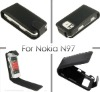 Stock Clearance! Black Synthetic Leather Case Cover Pouch For Nokia N97