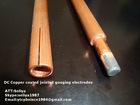 DC Copper coated jointed gouging rod