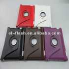 Hot sale rotate 360 leather case for ipad