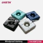 COLORFUL SQUARE MELAMINE WINDPROOF TABLE ASHTRAY WITH EXTINGUISHER ON ASHTRAY NO NEEFD TO STUB CIGARETTE ENDS
