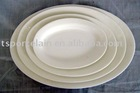 hotel bone china oval plate
