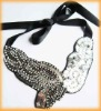 Leaf Shape Sequins Crystal Collar Necklace Collar Jewelry