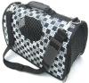 luxury leather dog travel bag