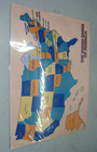 Educational Wall Chart w/map ,Baby Learning Wall Chart
