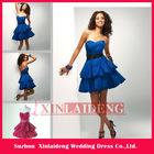 CTD002 graceful A-line sweeetheart blue taffeta Mini cocktail dress 2012
